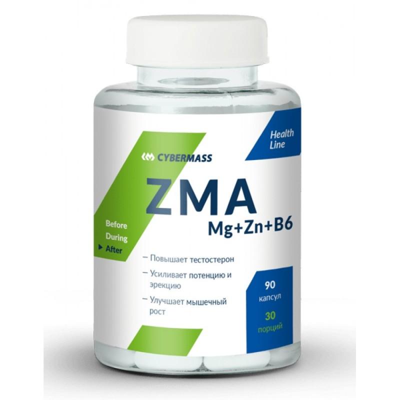 CyberMass ZMA Mg+Zn+B6 90 капс.